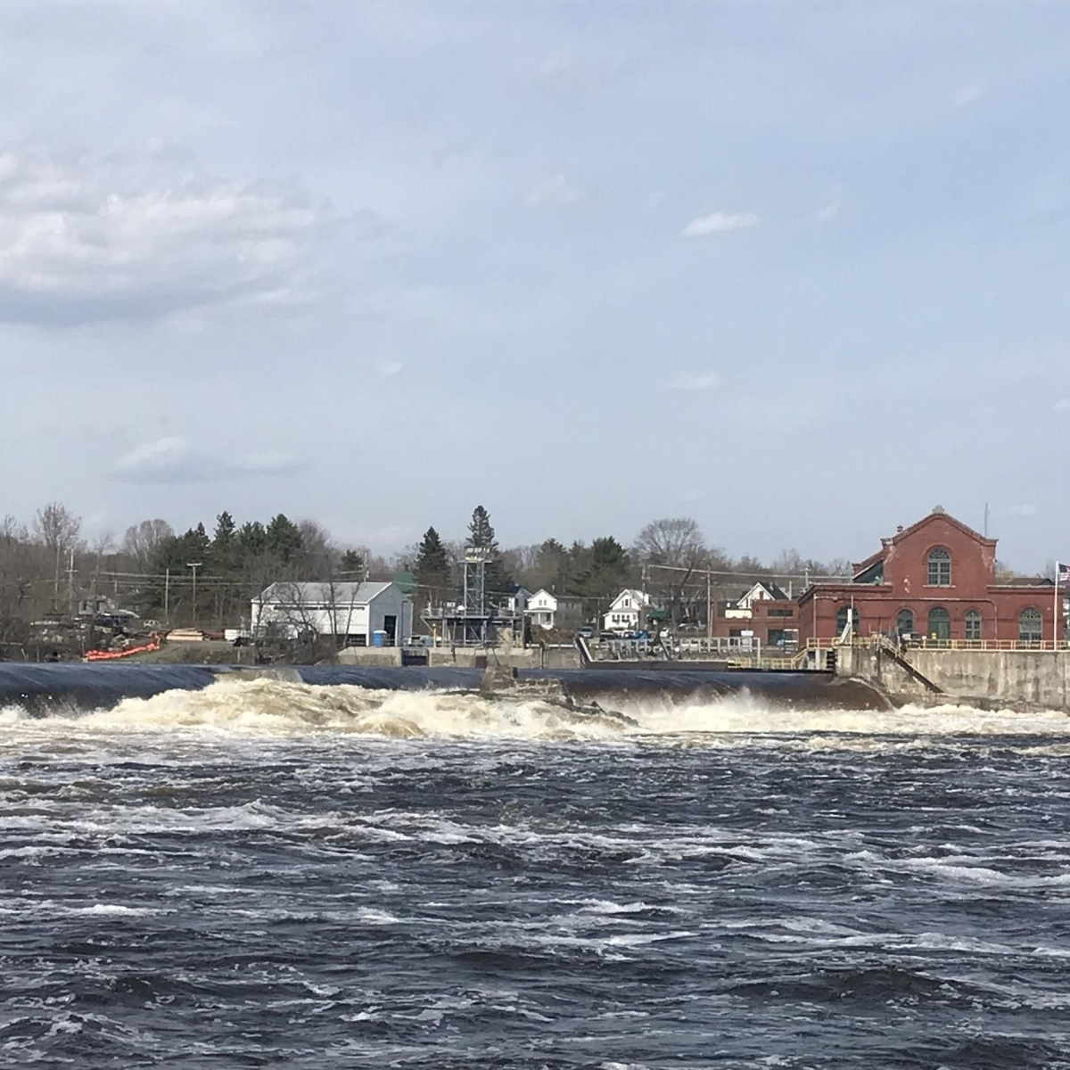 Milford Dam in Maine's Penobscot River